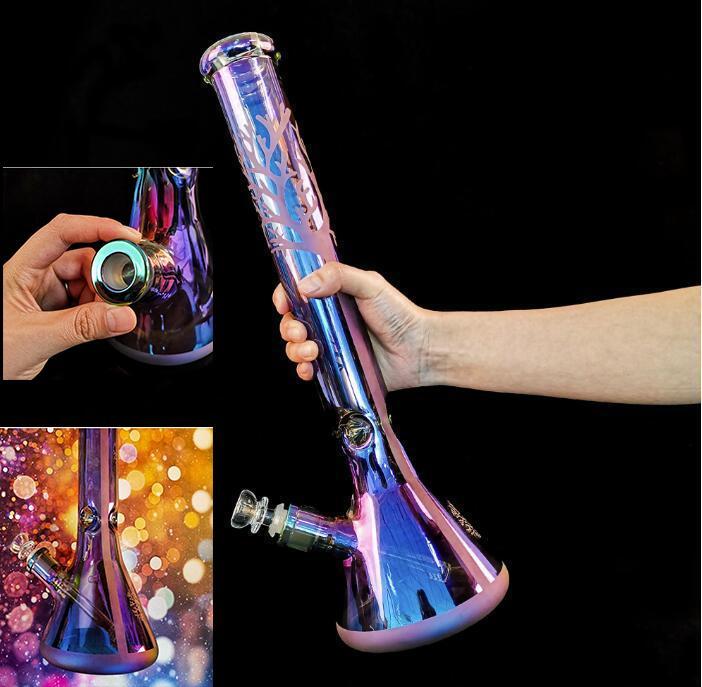30 cm highpurple copo de vidro plataformas petróleo plataforma de vidro plataformas de água tubos de água com tigela bongs heady klein hookah