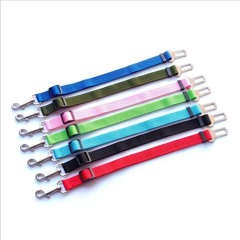 7 colore regolabile cane auto sicurezza cintura cintura nylon animali domestici cucciolo sedile piombo guinzaglio del guinzaglio del veicolo del veicolo della cintura di sicurezza AAA723