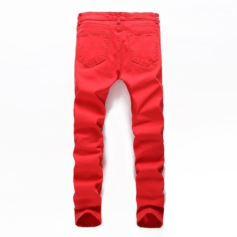 Hmily Skinny Jeans Hombres Rodas Rodilla Cremallera Moda Casual Slim Fit Biker Jeans Hip Hop Destruye Pantalones de mezclilla Estirar Pantalones Motocicletas1
