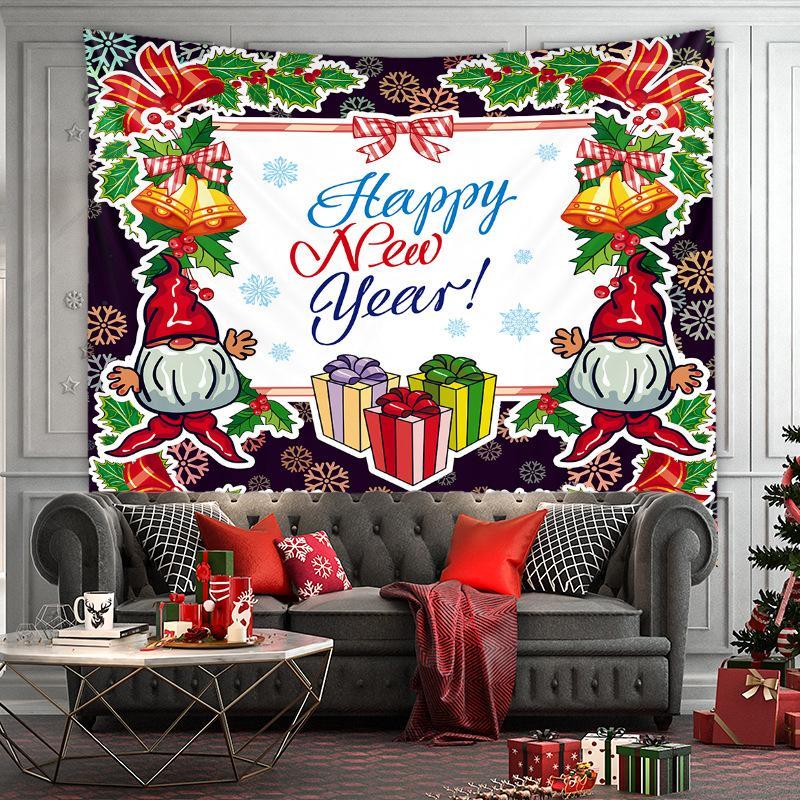 Natal série tapeçarias Árvore de natal home quarto decoração fundo pano parede pendurado parede pendurado