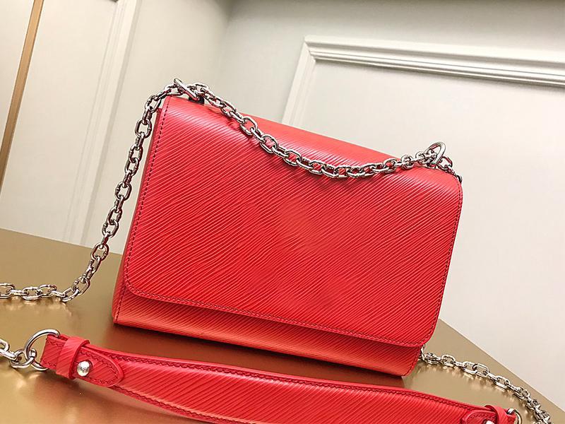 Luxusdesigner Big-name Handtaschen Massivfarbe Wellenmuster Frauen Messenger Bag Echtes Leder Hochwertige Frauen Kosmetiktasche Business