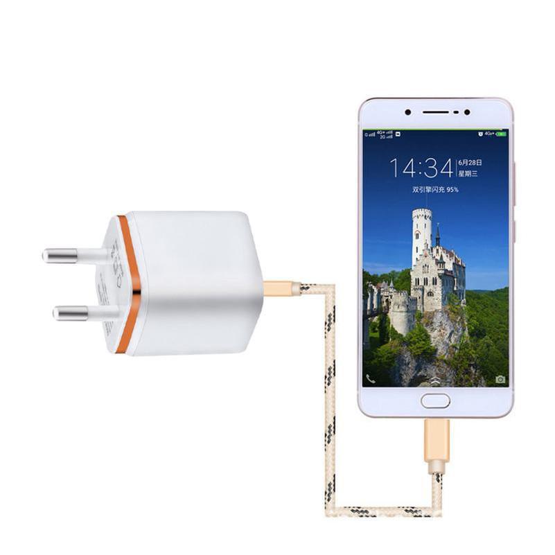 EU الولايات المتحدة AC الرئيسية السفر شاحن الجدار محول الطاقة المقابس لسامسونج S8 S10 ملاحظة 10 HTC Android Phone PC MP3