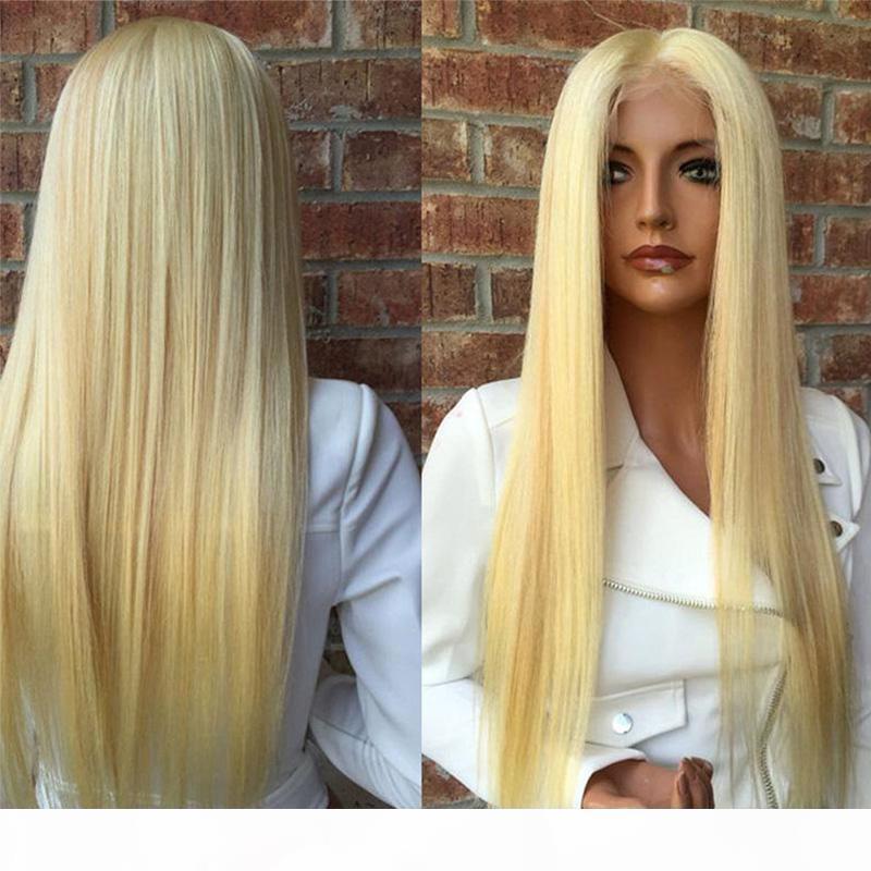 Indisches blondes haar brasilianer gerade menschliches haarperücken blonde farbe 613 menschliches haar spitze frontperücken peruanian malaysisch