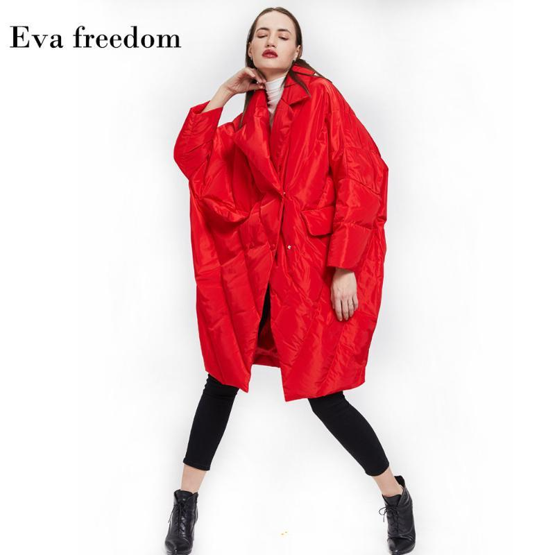 Çin Yeni Yıl Kırmızı Şenlikli Aşağı Ceket Kadın Gevşek Büyük Boy Cocoon Pelerin Aşağı Ceket Kadınlar Kış Mont Sıcak
