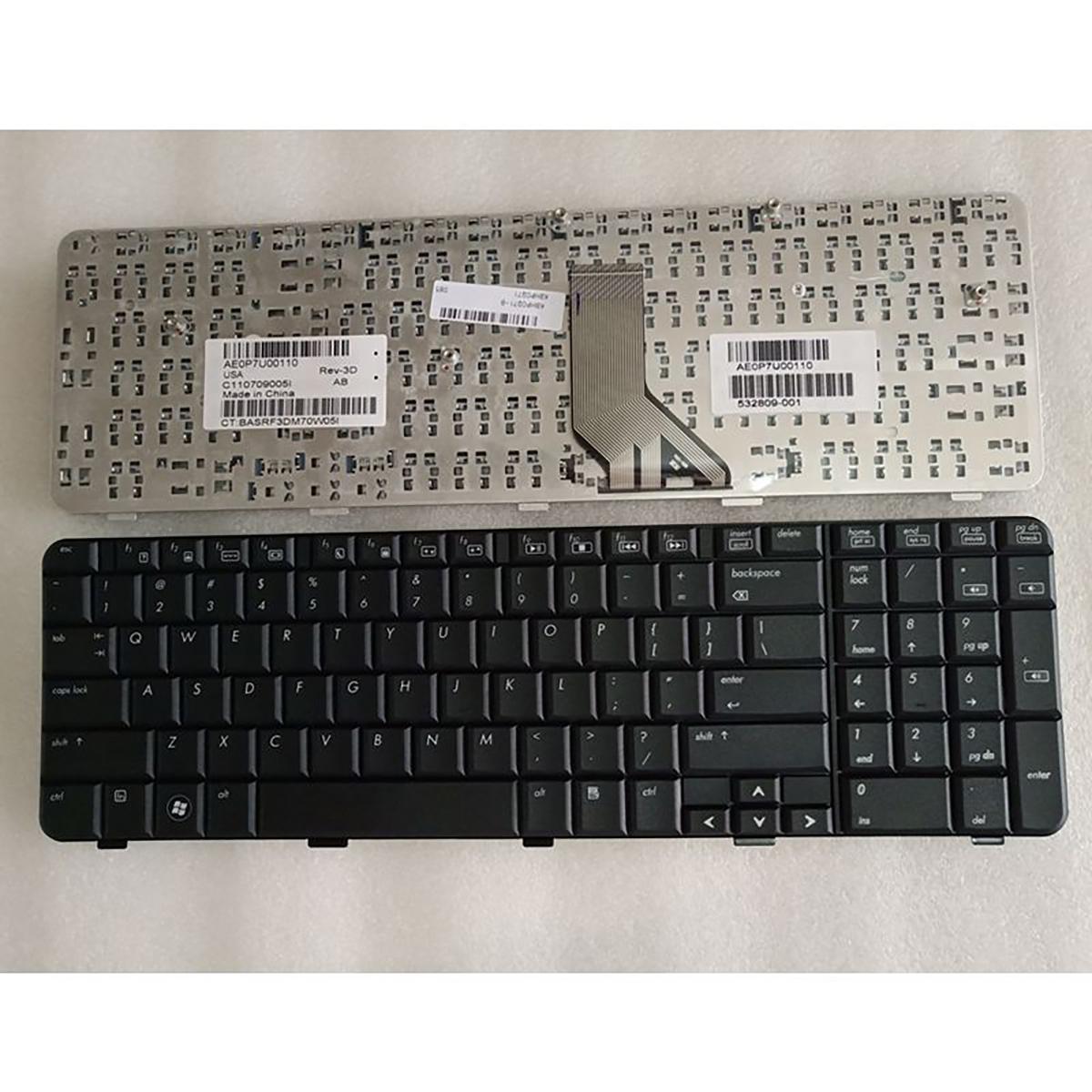 Substituição do laptop Keyobard para HP Compaq CQ71 CQ71-100 CQ71-200 CQ71-300 CQ71-300 CQ71-400 US Layout Repair Teclado