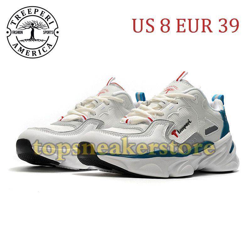 Nueva llegada TreePeri Fashion Chunky Soft Sole zapatos de correr Blanco Obsidian US 8 EUR 39 para mujeres entrenadores