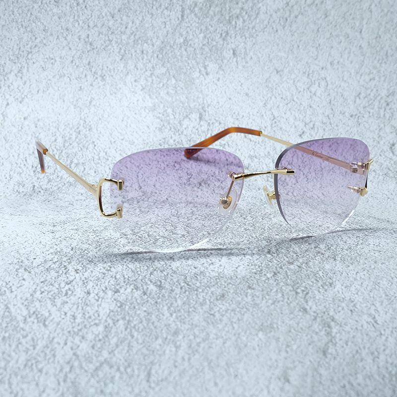 Carter Luxury Luxury Oval Eyewear Diseñador Sombras Sol Vidrio Mujeres Moda Gafas de sol Lentes de Vintagesun Mujer FPXTQ