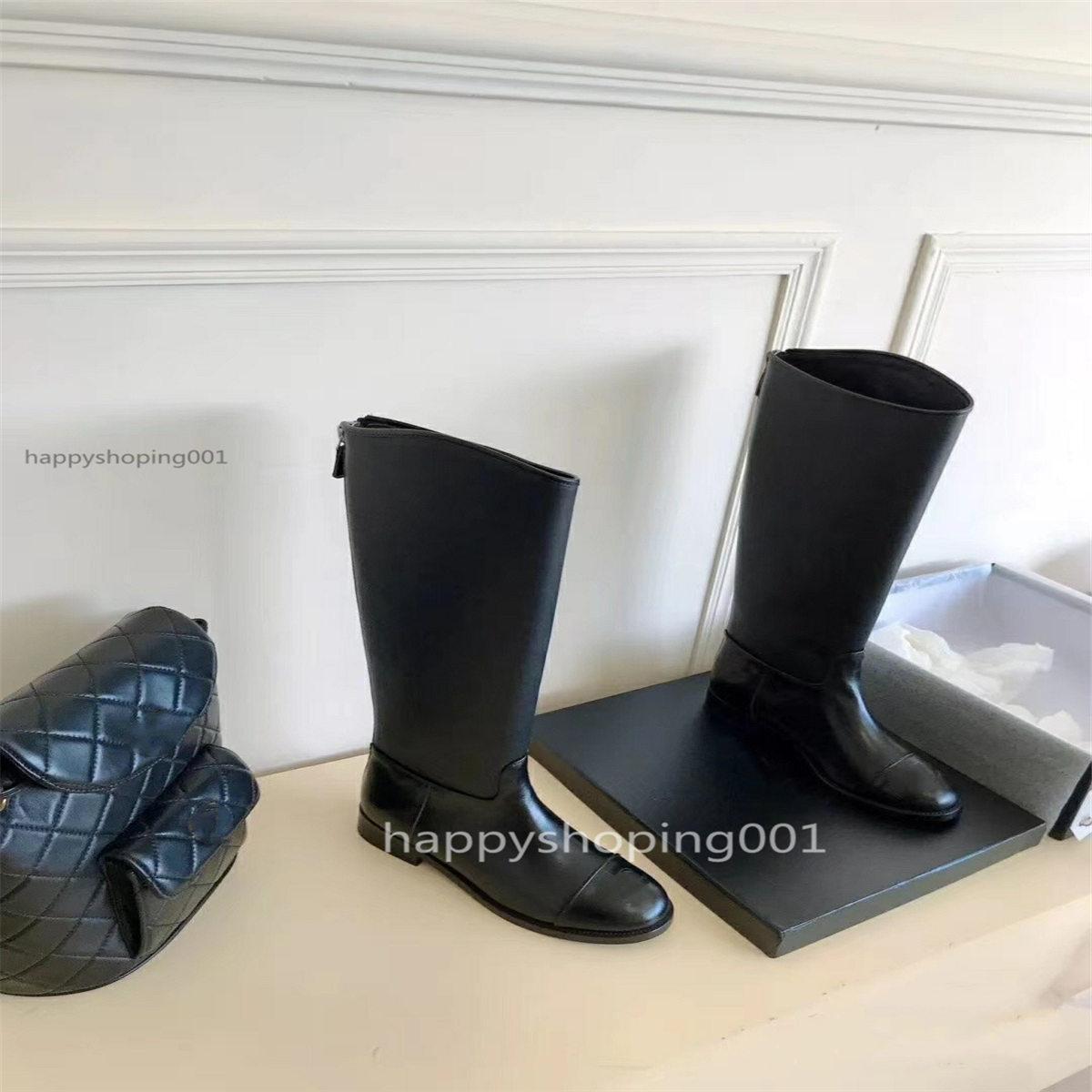 Kadın çizmeler deri klasik moda kadın ayakkabı deri yüksek topuk kadın çizmeler siyah diz yüksek çizmeler