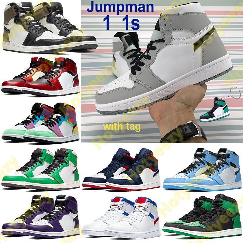 1 1s ارتفاع jumpman أحذية كرة السلة الظلام moach منتصف ضوء الدخان رمادي شيكاغو تو شي سو الرجال النساء أحذية رياضية obisidian unc المدربين المفاتيح