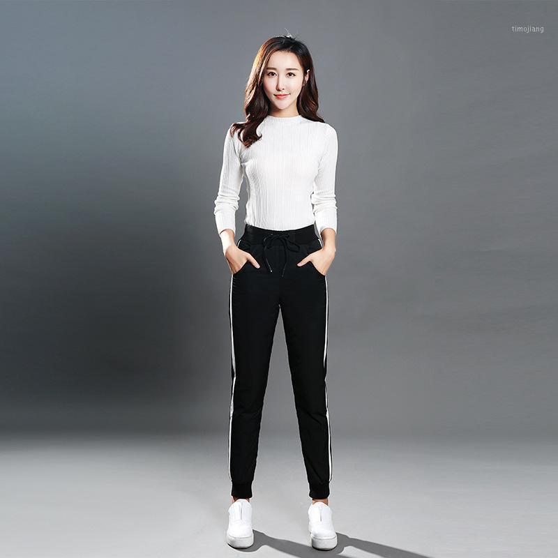 2020 Hiver Femme Sports Down Pantalon Extérieur Taille haute Slim épais Canard Blanc Down Down Pantalon Grand Taille Feuille Chaud Feuille Pencil1