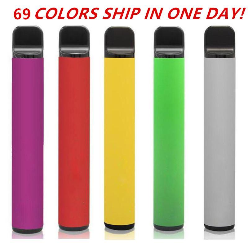 Barra de soplo más 69 colores Dispositivo desechable 450mAh Batería 3.2ml Pod Vape pre-llorado Vapor portátil Puff XXL MAX