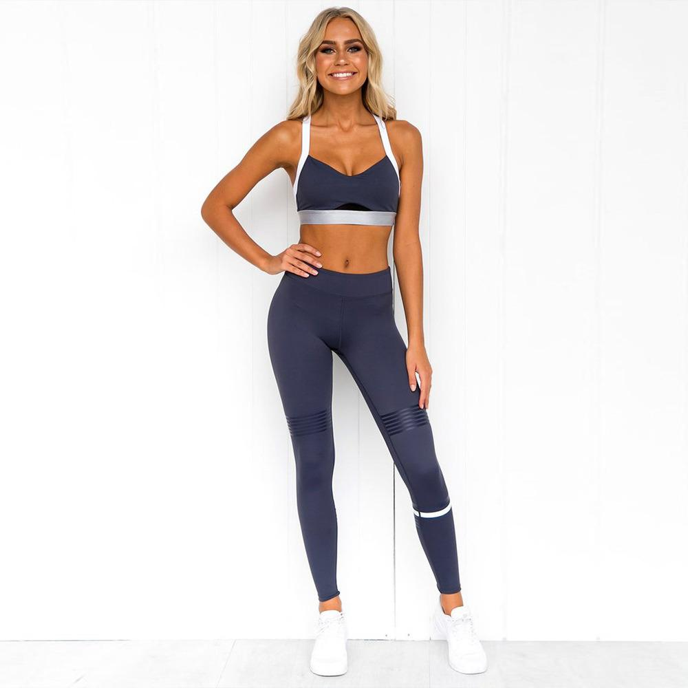 2019 frauen sportwear yoga sets 2 stücke sport bh leggings sportanzug gym workout set weibliche kleidung fitness yoga wear c0122
