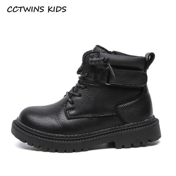 CCTWins Kids Botas 2020 Outono sapatos de couro genuíno crianças botas de moda sapatos de bebê meninas marca botas pretas sapatos MB194 Y1125