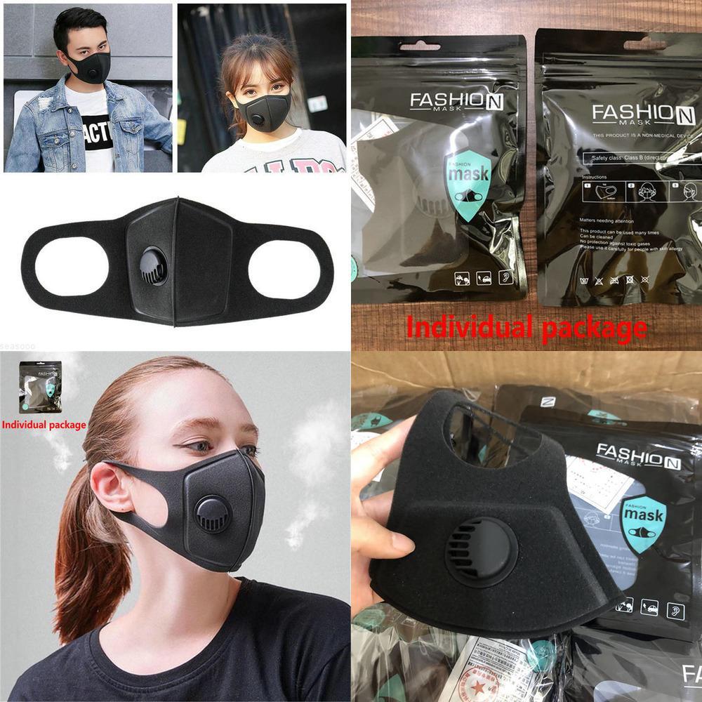Máscara UNISEX PM2.5 Reutilizable Anti-alérgico Boca de la boca Máscaras anti-polvo anti contaminación Máscara de esponja Paño MA01