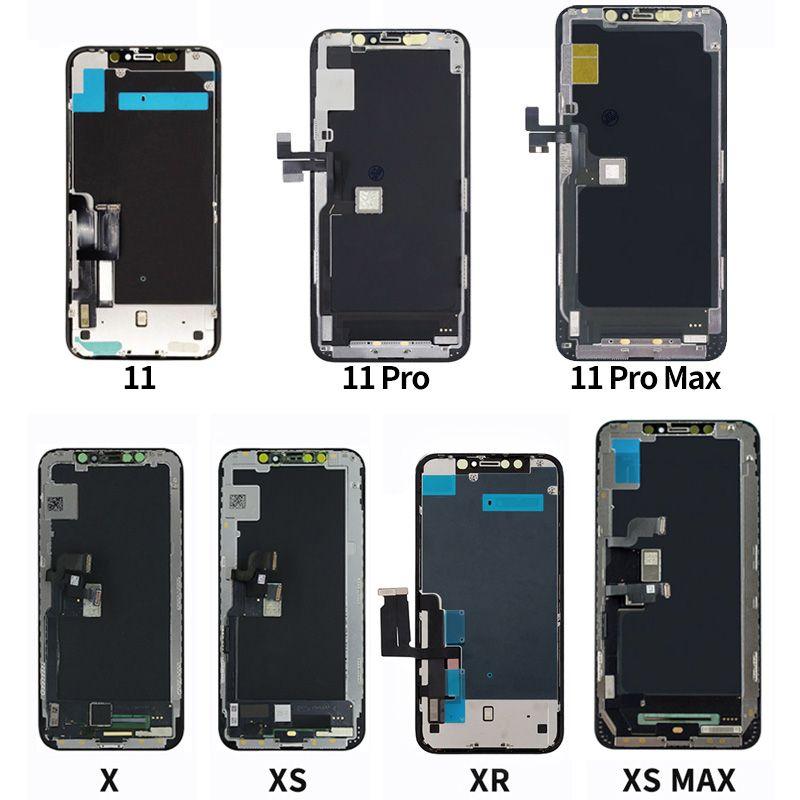 OLED Ekran iPhone X 11 11 Pro 11Pro Max LCD Ekran Dokunmatik Ekran Digitizer Meclisi iPhone11 x XS OEM LCD Ekran