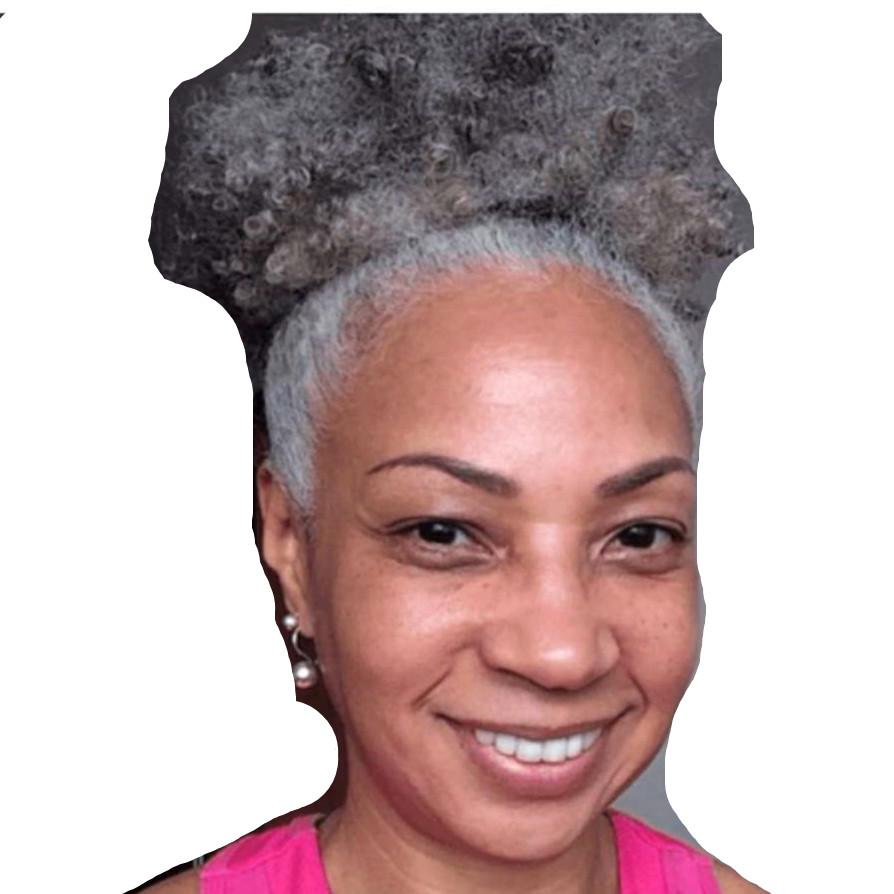Mulheres Curto Drawstring Curly Clipe Cabelo Dois Extensão Afro Cinza Cor no Cabelo Gradiente Cinzento Cinzento Bonithtails Tom Humano Cinzentos Cinza