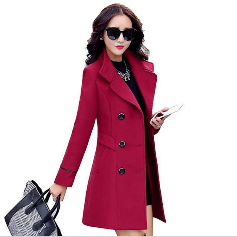 Outono inverno 2019 nova moda casaco de lã mulheres dupla casaco breasted elegante bodycon casaco longo casaco tops lu308