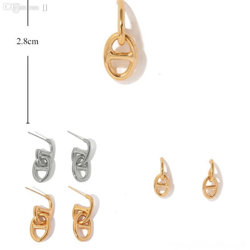 Hslj8 nouvelle arrivée simple boucles d'oreilles rétro xmas boucles d'oreilles noires minuscule pour femme diamant acier inoxydable boucle d'oreille doré mode sport vélo