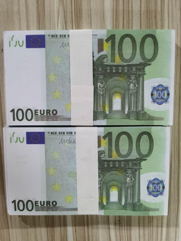 Fake Euros Papel realista Prop NightClub Money 100 Película para dinero Banco Play Business Collection Note Money Mas Copy 50 ESNIU