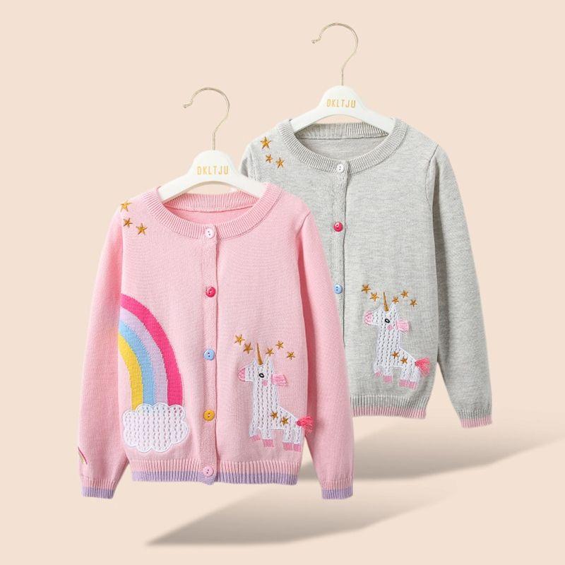 Cappotto a maglia, Moda del bambino Maglione della ragazza della bella primavera, contare Rebecca, maglione di 2-8 anni