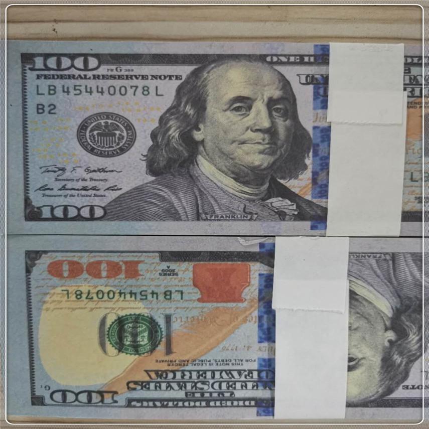 High Fast Requisiten American Report Party Dollar Währung Laxfk Papier Großhandel Requisiten Qualität Bar Atmosphäre 100 100-5 Stück / Paket USPXP