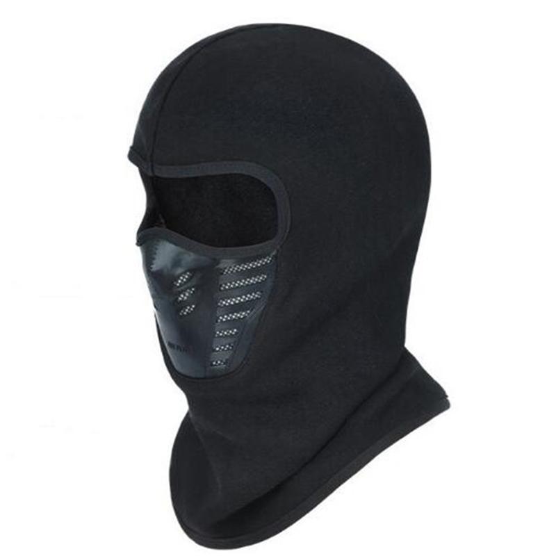 Wholesale Skullies a prueba de viento Gorros para hombres Mujeres Máscara de cara completa Otoño Otoño Hombrero de invierno TROMPLETLE FLEECE T200116
