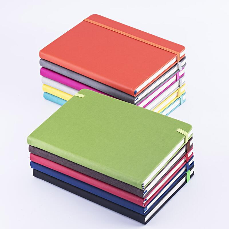 الهدايا شخصية مخصص A5 جدول أعمال يومي مجلة مجلة يوميات بو الجلود غطاء اللون تغيير دفتر مع شريط مرن PPD3515