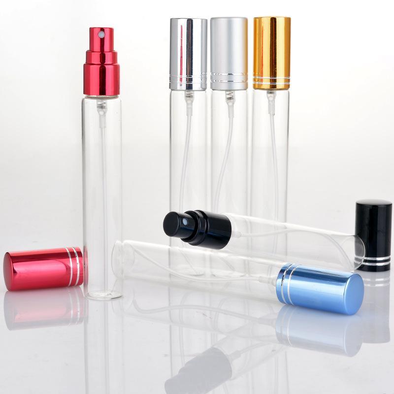 10 ml 15 ml Doldurulabilir Mini Parfüm Sprey Şişesi Alüminyum Sprey Atomizer Seyahat Kozmetik Konteyner Parfüm Şişeleri