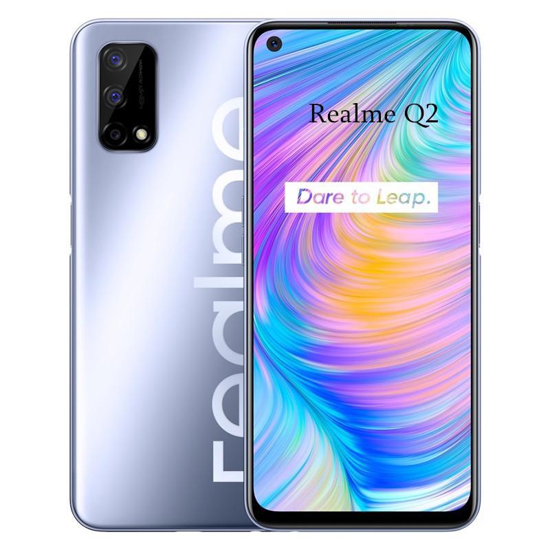 الأصل Realme Q2 5G الهاتف 4GB RAM 128GB ROM MTK 800U الثماني النواة الروبوت 6.5 بوصة شاشة كاملة الهاتف 48.0MP الوجه ID بصمة خلية