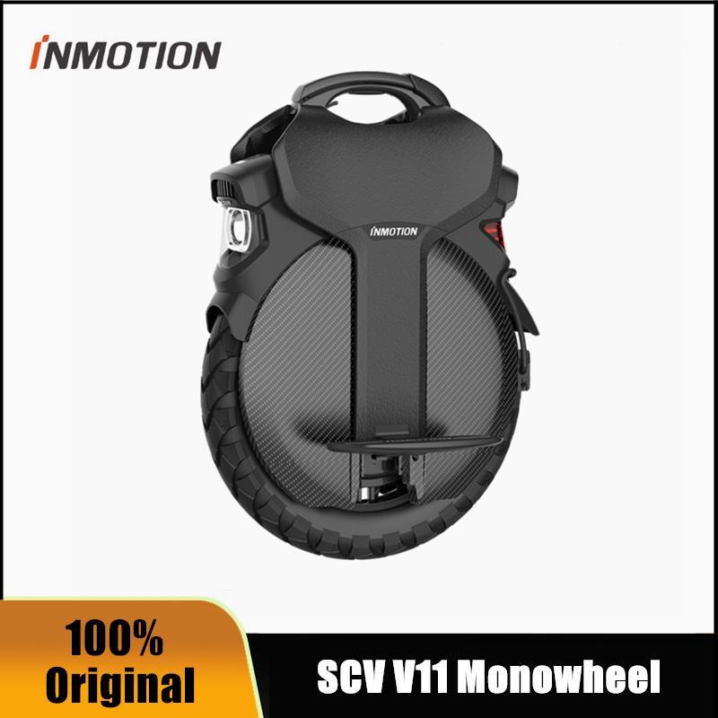 Оригинальный Inmotion V11 Electric Electric Unicycle Самокат самоката 84V 2200W Рукоятка монориганов Hoverboard 4.0 BLE