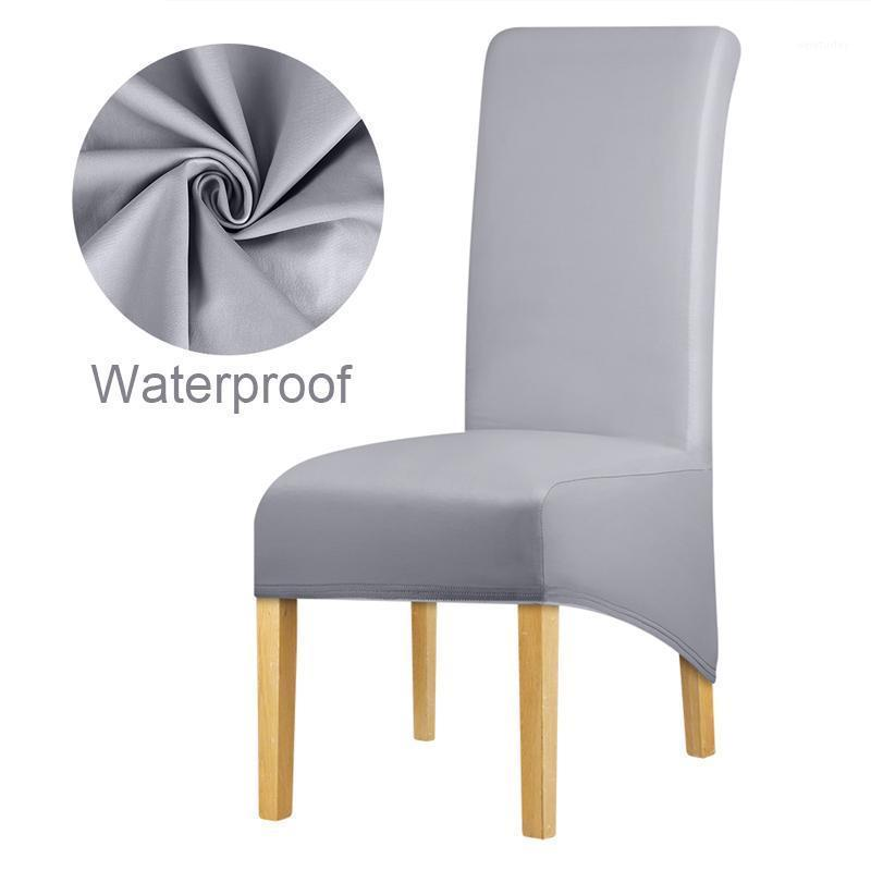 XL حجم ماء طويل عودة الملك ظهر كرسي غطاء دنة النسيج كرسي يغطي مطعم فندق حزب مأدبة مقعد الغلاف 1