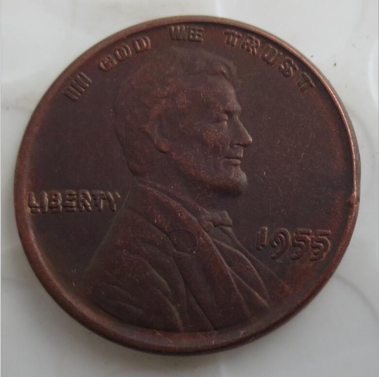 US One Cent 1955 Doppio Die Penny Penny Copy Copy Coins Metal Craft Dies Fabbricazione di fabbrica