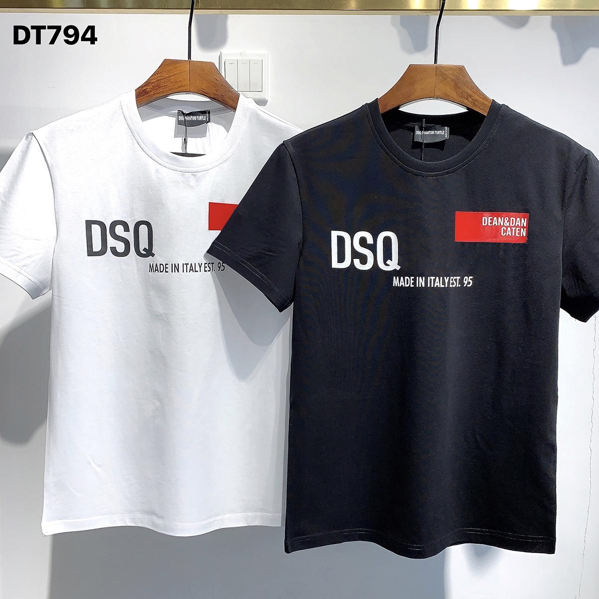 DSQ Phantom Tortue 2021ss New Mens Designer T-shirt Paris Mode T-shirts Été DSQ Modèle T-shirt Homme Top Qualité 100% coton Top 1024