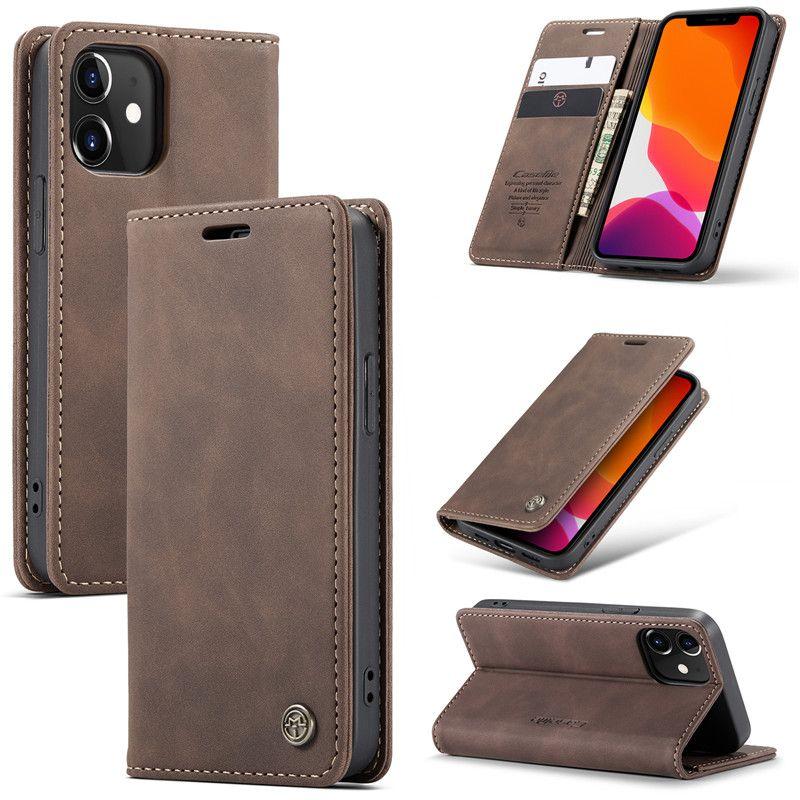 Cas en cuir multifonctions Titulaire de la carte de banque givrée rétro pour iPhone 13 12 11 PRO Max XR x XS 7 8 6S Plus DHL