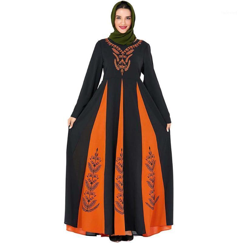 2020 Abaya Dubai Turco Hijab Abito musulmano Abito islamico Abbigliamento islamico Abayas per le donne Caftano Kaftan Robe Arabo Islam Ramadan Vestido1