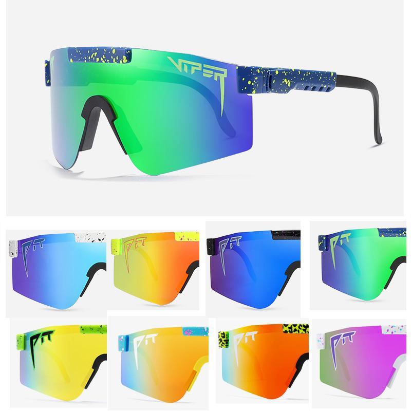 2020 Nuovo Occhiali da sole sovradimensionati di alta qualità Occhiali da sole polarizzati Lente rossa TR90 TR90 PROTEZIONE UV400 Protezione Uomo Sport Pit ViperRunningRunning