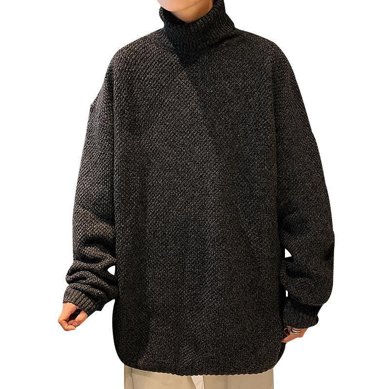Moda Erkekler Kazak Bluz Kore Ücretsiz Kargo Boy Harajuku Kazak Balıkçı Yaka Vetement Homme Kazak Kış EA60MY