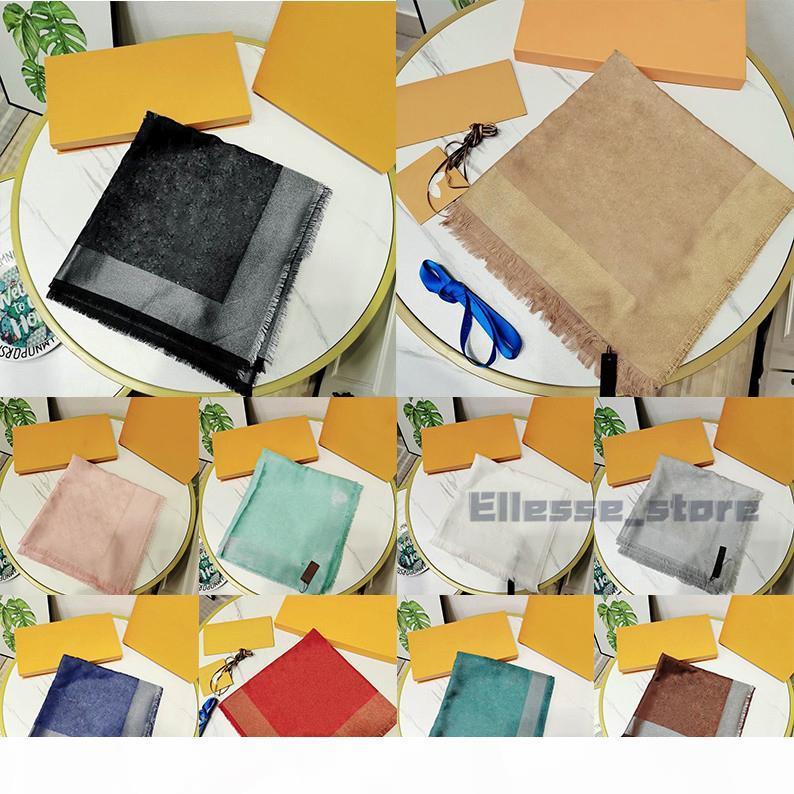 Mit Box Geschenkbeutel Quittungsmarke Top Qualität Schals für Frauen Winter Herren Schal Luxe Pashmina Warme Mode Imitieren Wolle Kaschmir Schals 2020