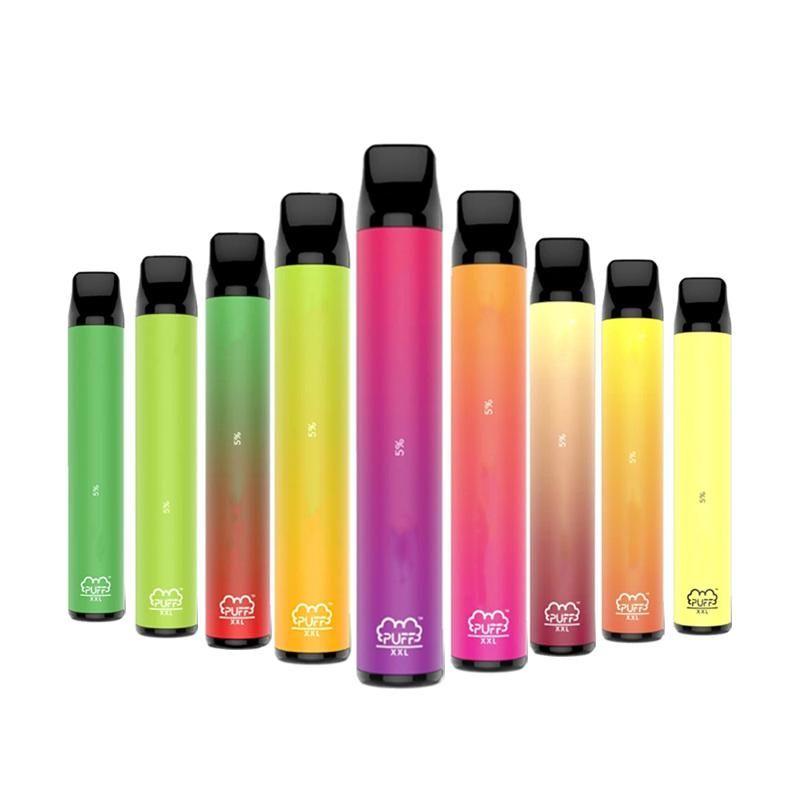 Puff XXL 1600+ Puffs 30 Farben Verdampfer-Dampf-Sattel-Puff-Bar Langsteigender Einweg-Vape-Pen-Patronen vorgefüllt E Cigs Puff Plus