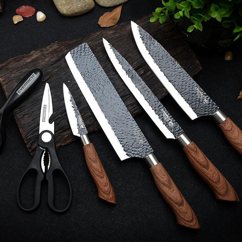 Nakiri Edelstahl Kitch Messer Set Werkzeuge Geschmiedete Küchenmesserschere Keramikschäler Chef Slicer Nakir Paring Messer Geschenkkoffer Kostenlose DHL Lieferung