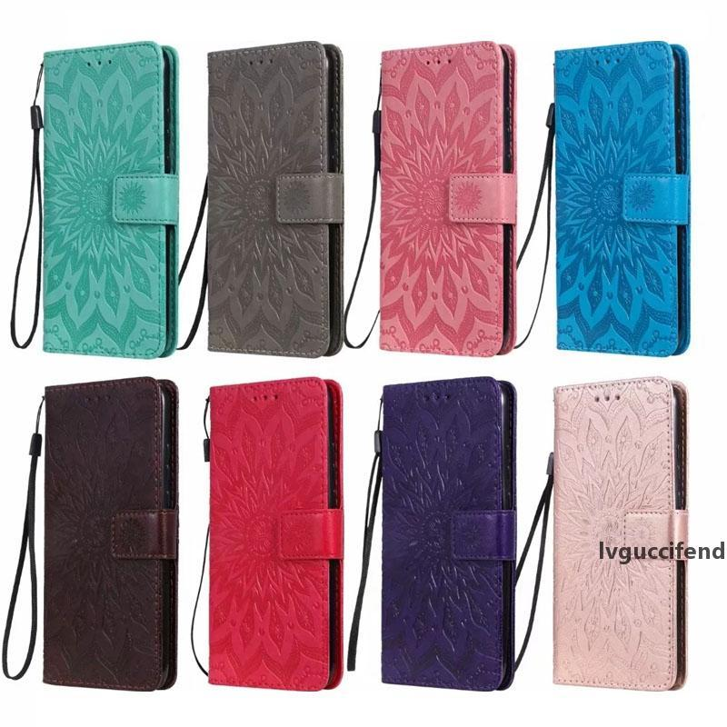 For Iphone 11 5.8 6.1 6.5inch 2019 Imprint Leather Wallet Case For Samsung Note 10 Pro A80 A10E Butterfly Flower Cat Holder Card Slot Cover