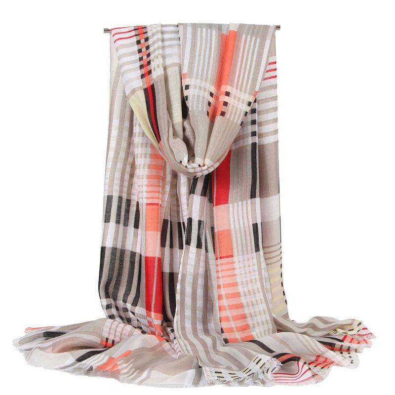 High quality color plaid print scarf brand designer scarf ladies long scarf shawl wrapped 180x90cm high-end ladies shawl