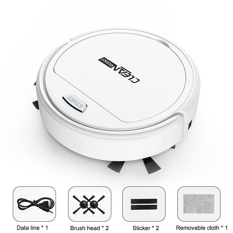Robot de carga USB Vacuum Cleane Automático Máquina de limpieza inteligente ultrafina ultrafina limpiadora limpiadora de vacío para el hogar Y1201