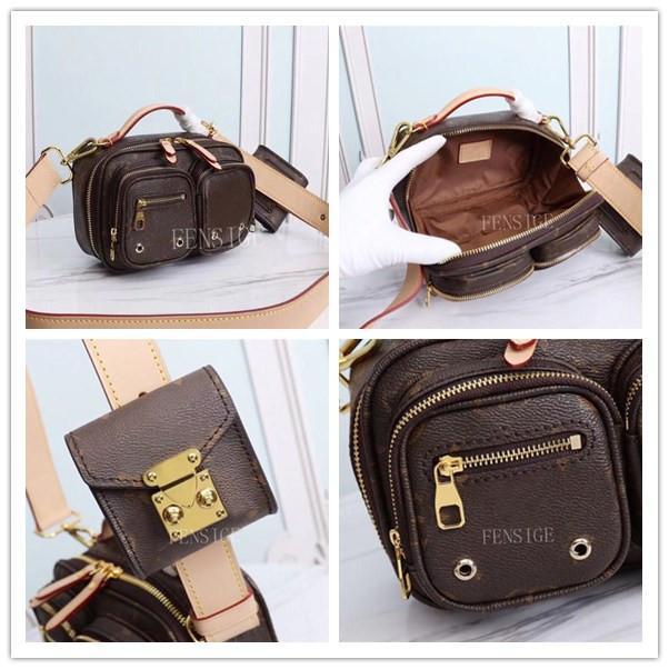 2021SS Mode Set Outdoor Taille Pack Taschen Designer 2 Taschen Brust Crossbody Handtaschen Messenger Druck Brief Kamera Umschlag Gürtel M45672 TMJH
