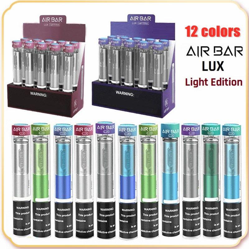 Hava Bar Lux Işık Sürümü 1000 Puffs Tek Kullanımlık Cihaz Pod Kiti 500mAh Pil 2.7ml Kartuş Vape Boş Kalem vs Puf Plus XXL