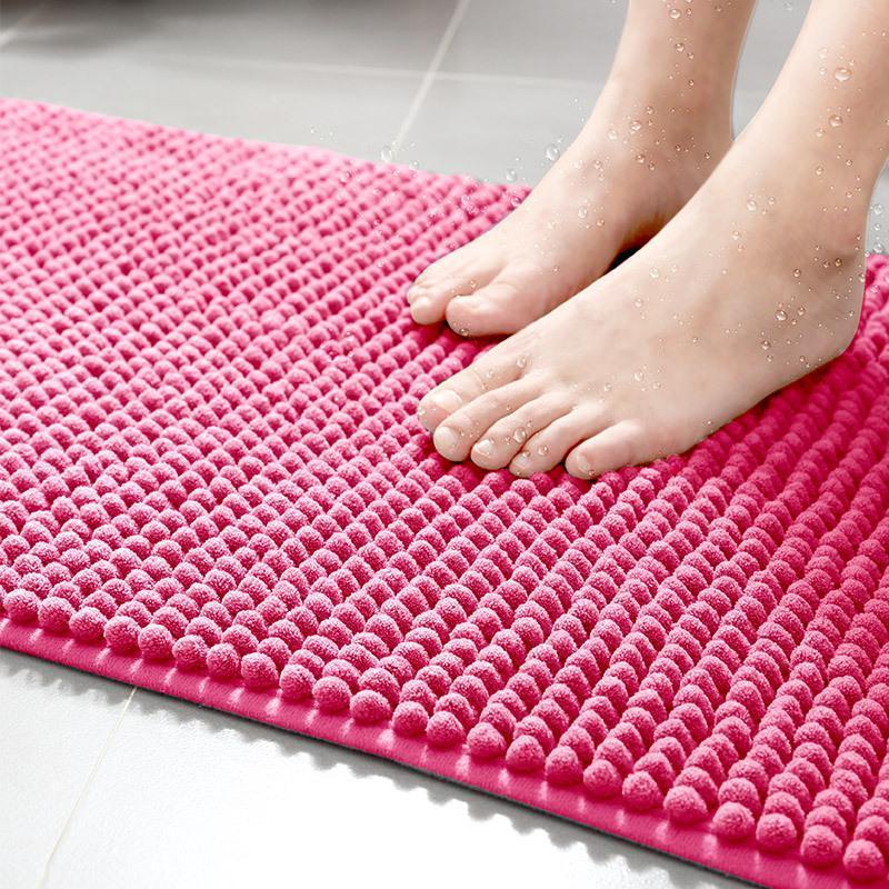 Alfombras colchonetas baño baño topero antideslizante alfombra alfombras absorbentes absorbente suave chenille bañera casa alfombra de color sólido color baño baño baño
