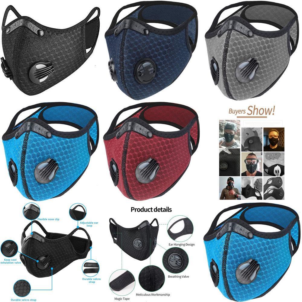Rosto máscara negra máscara azul bicicleta de proteção meio anti-poeira pm2.5 máscara facial respirável acdhth ix7s