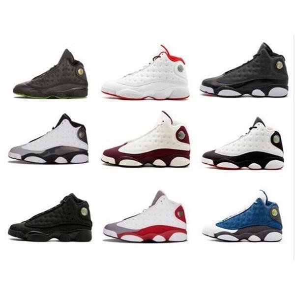 Yeni Yüksek Kaliteli ayakkabı Basketbol Ayakkabı erkekler 13s Kara Kedi He Got Game Play-Hiper Pembe Sneakers boyutu 7-13 Bred 13 Şikago dpm