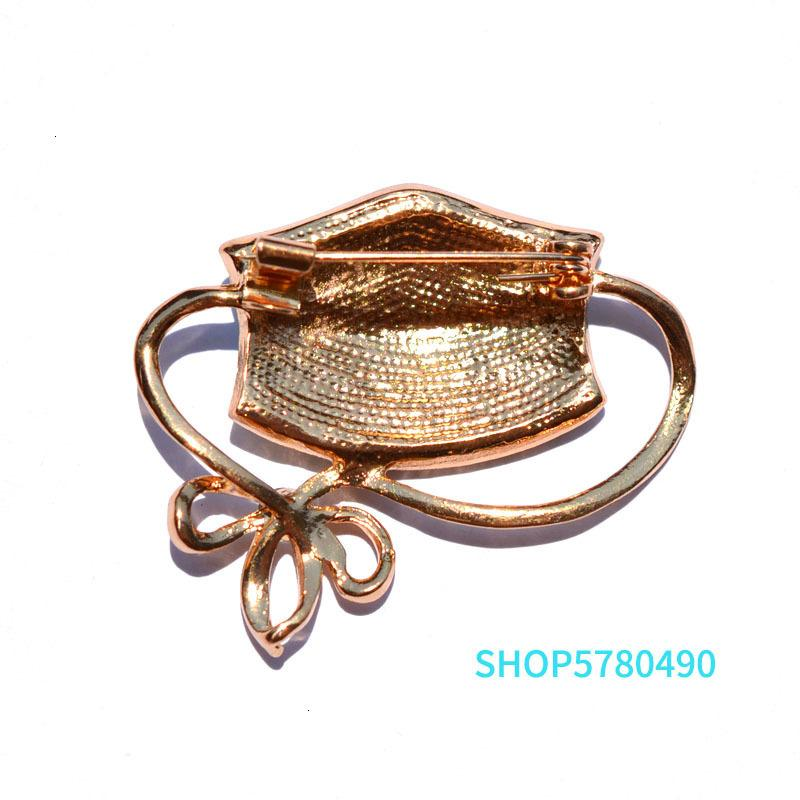 Brooches for Women Mask-pin Elegant Mix Color Rhinestone Ladies Sweater Garment Enamel Brooch Accessories Fashion Jewelry