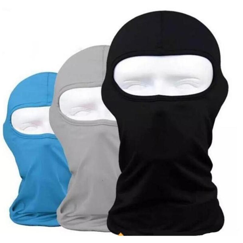Balaclava Protección al aire libre Cara completa Lycra Headwear Cuello de esquí Mascarillas Ciclismo Mascarilla Mascarilla Mascarilla 17 Colores